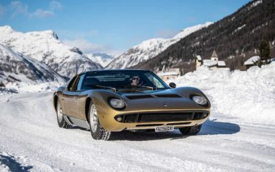 LAMBORGHINI MIURA FEELS AT HOME ON THE SNOW